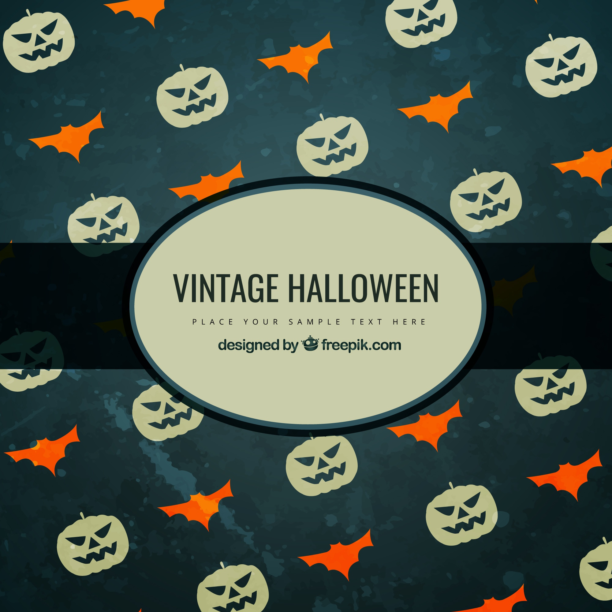 Vintage halloween background