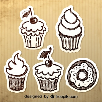 Vintage Hand-Drawn Desserts Design