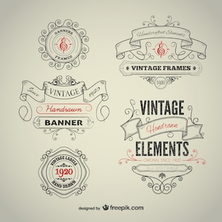 Vintage hand-drawn elements