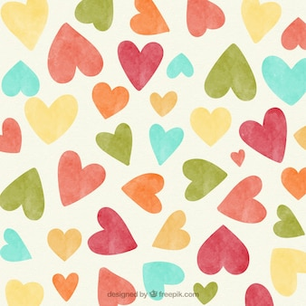 Vintage hearts background