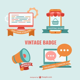 Vintage internet business vector