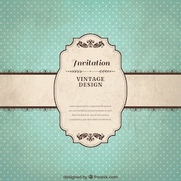 Vintage invitation template