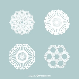 Vintage lace ornaments pack