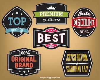 Vintage marketing stickers design