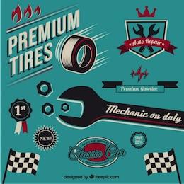 Vintage mechanic elements