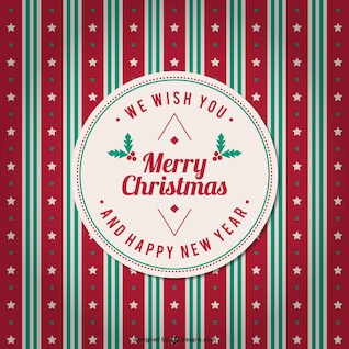 Vintage merry Christmas background vector