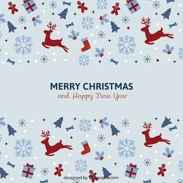 Vintage minimalist Christmas card