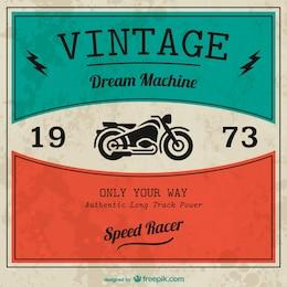 Vintage motorbike vector