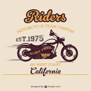 Vintage motorcycle free template