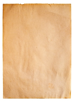 Vintage old paper isolate - vertical