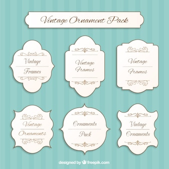 Vintage ornamental labels