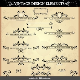 Vintage ornaments pack