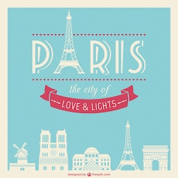 Vintage Paris vector
