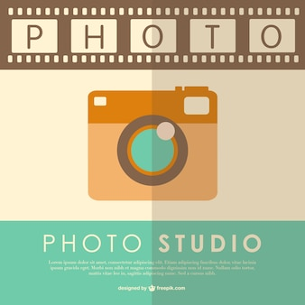 Vintage photography vector template