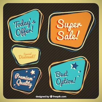 Vintage promotion badges