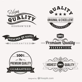 Vintage quality badges