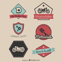 Vintage racing stickers