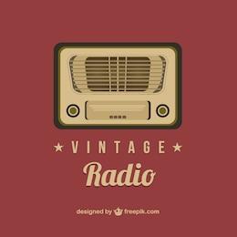 Vintage radio vector art