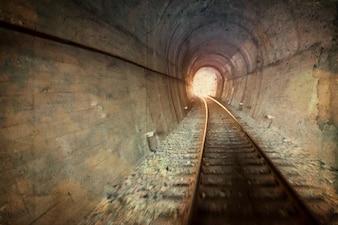 Vintage railway tunnel