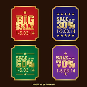Vintage sale stickers