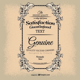 Vintage satisfaction guarantee