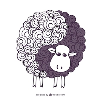 Vintage sheep vector