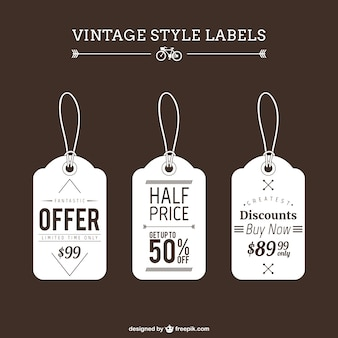 Vintage shopping tags