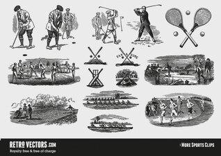 Vintage Sport Clipart