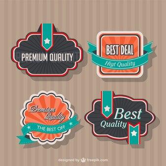 Vintage style badges design
