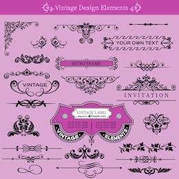 Vintage swirls decorative collection