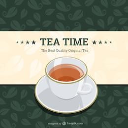 Vintage tea time vector design