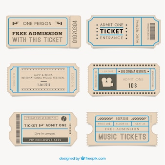 Vintage tickets collection