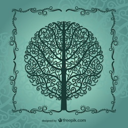 Vintage tree silhouette