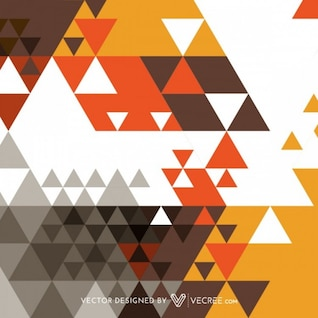 Vintage triangle decoration abstract background