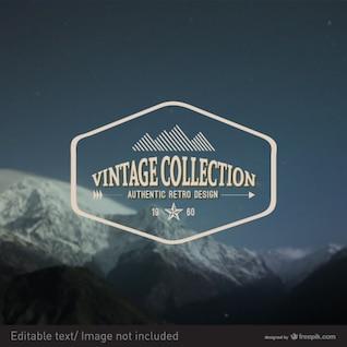 Vintage vector stamp design