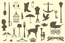Vintage victorian silhouettes pack