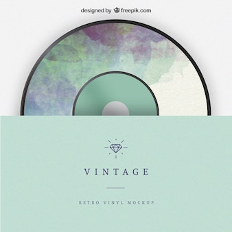 Vintage vinyl mockup