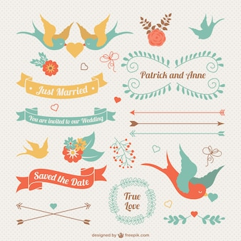 Vintage wedding ornaments