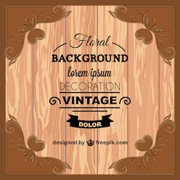 Vintage wood texture greeting card