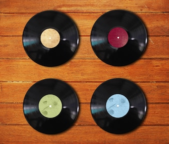 Vinyl discs of different colors