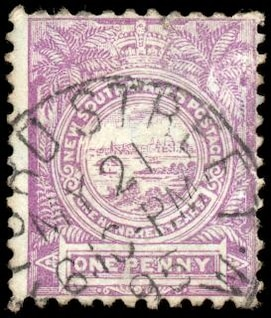 violet view of sydney stamp  highres