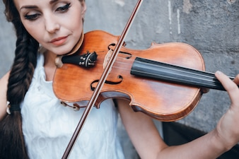 Violinist brown beautiful people classical