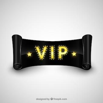 VIP black ribbon