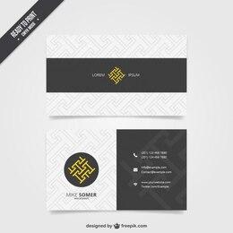 Visit card template