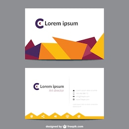 Visit card with geometric shapes