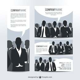 Visual identity set business people design