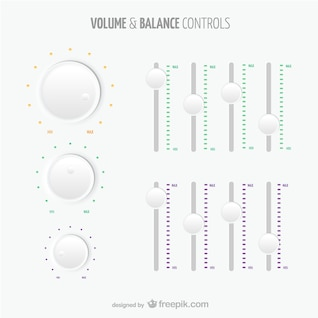 Volume and balance controls