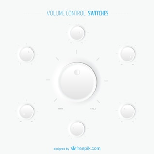 Volume control switches