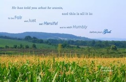 walk humbly with god  verse