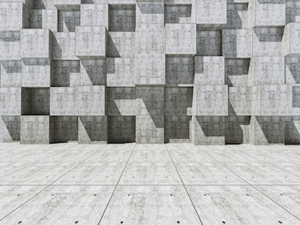 Wall with square blocks
